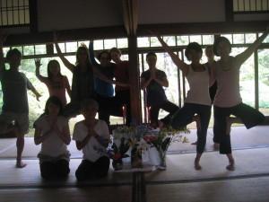 2014 Summer Yoga Retreat Group Pose